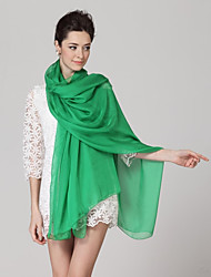 Women High-grade Pure Color Silk Chiffon Shawl Beach Towel