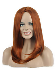 Natural long Brown Color Popular Synthetic Wig For Woman