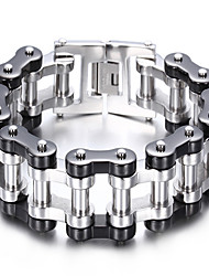Kalen®Fashion Style 316L Stainless Steel Men's Bicycle Chain Bracelet