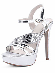 Women's Shoes Customized Materials Spring / Summer / Fall Heels Wedding / Dress / Party & Evening Stiletto Heel Silver / Gold