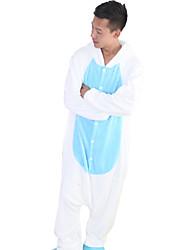 Kigurumi Pyjamas Unicorn Collant/Combinaison Halloween Pyjamas animale Bleu Mosaïque Toison de Coral Kigurumi UnisexeHalloween / Noël /
