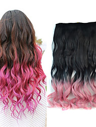 18 inch Ombre Color Body Wave Fluffy Hair Synthetic Extension