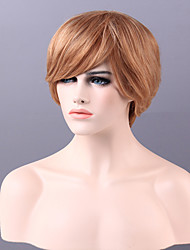 High Quality Capless Short Straight Mono Top Virgin Remy Human Hair Wigs 13 Colors to Choose