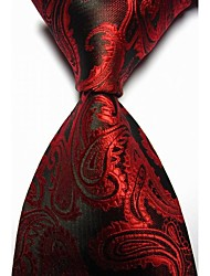 KissTies Men's Paisley Microfiber Tie Necktie With Gift Box (13 Colors Available)