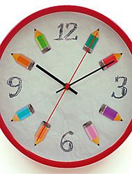 Redonda Moderno/Contemporâneo Relógio de parede,Outros Metal 34*34*8
