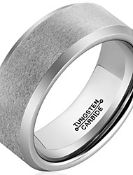 Ring Fashion / Vintage Wedding / Party / Daily / Casual Jewelry Tungsten Steel Men Band Rings 1pc,7 / 8 / 9 / 10 / 11 / 12 / 13 Silver