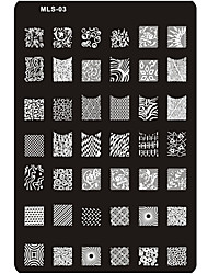 1PC Nail Art Stamping/Stamper Image Template Plate Nail Stencils/Molds (Assorted Number)