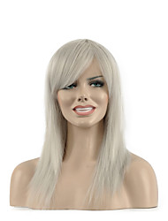 Natural long White Color Popular Synthetic Wig For Woman