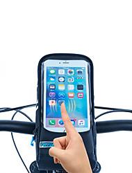ROSWHEEL® Bolsa de Bicicleta 1.3LBolsa para Guidão de BicicletaZíper á Prova-de-Água / Á Prova de Humidade / Camurça de Vaca á