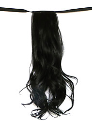 Wig Black 50CM High-Temperature Wire Strap Style Long Hair Ponytail