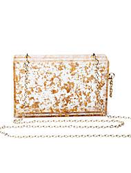 L.WEST Women's The Transparent Acrylic Evening Bag