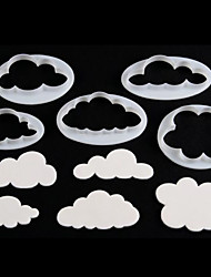 5Pcs Fluffy Clouds Cutter Cake Decorating Fondant Biscuits Cookie Fondant Cutter
