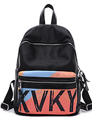 Women Oxford Cloth / Nylon Casual / Outdoor / Shopping Backpack Multi-color