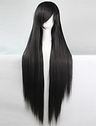 Europe And The United States The New Color Wig 100 CM High Temperature Silk Black Long Straight Hair Wigs