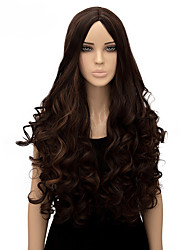 Women Long Body Wave Brown Color Top Quality Synthetic Wig