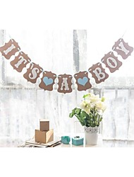 IT'S A BOY with Blue Hearts Baby Shower Banner Bunting Birthday Party Garlands Decorations