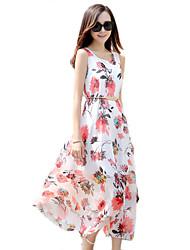2016 Summer New Women's Bohemian Beach /Big Swing chiffon dress