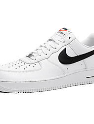 Nike Air Force 1 Round Toe / Sneakers / Running Shoes / Casual Shoes / Skateboarding Shoes Men's Wearproof Low-Top White / Gray / Black