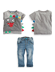 Boy's Cotton Clothing Set,Summer / Spring / Fall Patchwork