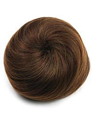 Kinky Curly Brown Europe Hepburn Human Hair Weaves Chignons 2009