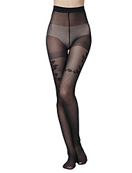 Women's 10D leisure four beautiful Jacquard pantyhose