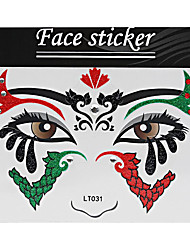 Abstract Pat Nightclubs Party Red Face Sticker LT-031
