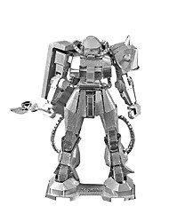 Quebra-cabeças Quebra-Cabeças 3D / Quebra-Cabeças de Metal Blocos de construção DIY Brinquedos Metal PrateadaModelo e Blocos de