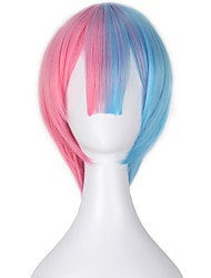 Cosplay Wigs Cosplay Cosplay Blue / Pink Short Anime Cosplay Wigs 32 CM Heat Resistant Fiber Female