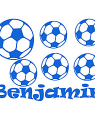 Sports Wall Stickers Football Customized Name Wall Art Boys Bedroom Decals For Kids Rooms