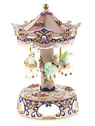 ABS White/Purple/Pink Creative Romantic Music Box for Gift