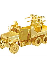 Puzzles Puzzles 3D / Puzzles en Métal Building Blocks DIY Toys War Chariot Métal Argenté / Doré Maquette & Jeu de Construction