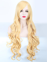 Capless Long Blonde Color High Quality Body Wave Synthetic Wigs
