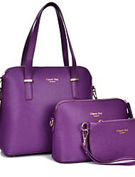 Women PU Formal / Casual / Office & Career / Shopping Tote / Bag Sets Purple / Blue / Brown / Black