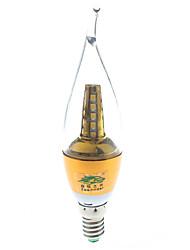 7W E14 Luces LED en Vela S14 25 SMD 2835 600 lumens lm Blanco Cálido Decorativa AC 85-265 / AC 100-240 V 1 pieza