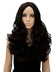 Women Long Body Wave Black Color Top Quality Synthetic Wig