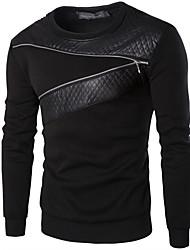 Men's Fashion Slim Zipper Decoration Sweatshirt,Cotton / Polyester Patchwork