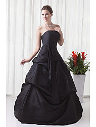 Formal Evening Dress - Vintage Inspired A-line Strapless Floor-length Taffeta with Pleats