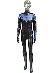 Inspired by Cosplay Sice Video Game Cosplay Costumes Cosplay Suits Solid Black Long Sleeve Breastplate / Leotard / Gloves / Shoe Cover