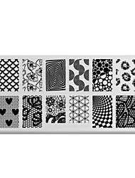 BlueZOO Rectangle Printing Nail Art Stamping (C-028)