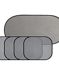 5pcs malha pára-sol do carro pára-sol bloquear back bloco guia lateral isolado super