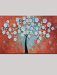 расписанную окрашены густой масляной живописи белые цветы дерева жизни с растянутыми оформлена