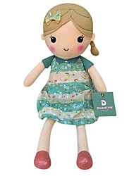 echte Frühlingsmädchen Puppe Plüschspielzeugpuppe Baby-Puppe Puppen Mädchen Geschenk hellblau Blumenrock Sitzhöhe 25cm beschwichtigen