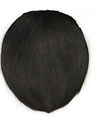 Kinky Curly Brown Straight Human Hair Weaves Chignons 4005