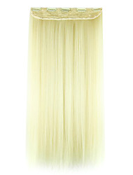Wig White Gold 60CM High Temperature Wire Length Straight Hair Synthetic Hair Extension