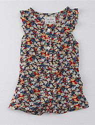 Girl's Print Dress,Cotton Summer Multi-color