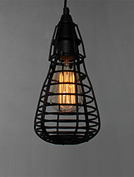1 Heads Retro Birdcage Pendant Lights Restaurant,Living Room ,Study Room/office Edison Ceiling light Fixture