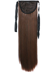 Brown Straight Blending Long Straight Hair Wig Ponytails 4A/30B