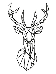 AYA™ DIY Wall Stickers Wall Decals,  Geometric Deer Head Wall art Type PVC Wall Stickers