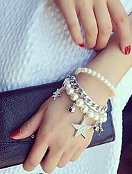 Imitation Pearl Strand Bracelet (1 Set)