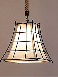 Retro Contracted Metal Fabric Pendant Lights, Creative Painting Living Room Dining Room Garage light Fixture